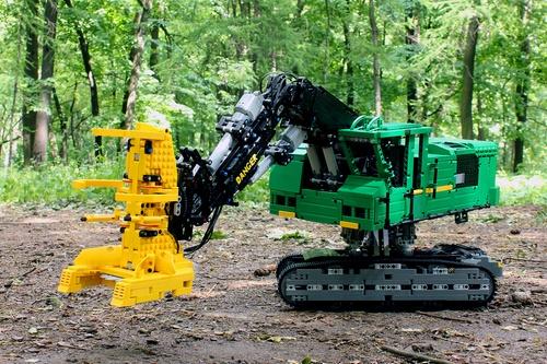 Feller Buncher The Lego Car Blog