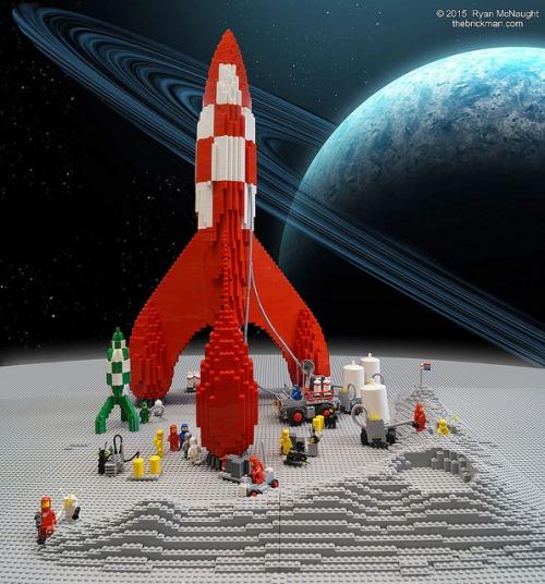 Lego Space TinTin Rocket