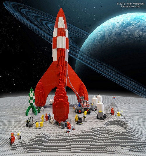 Lego Space TinTin Rocket