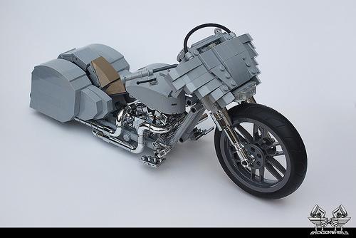 Lego Harley Davidson Custom 'Ratted' Bagger