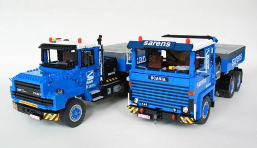 Lego Scania DAF Trucks