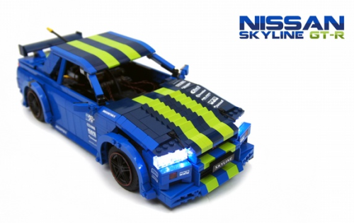Lego Nissan Skyline GTR Drift