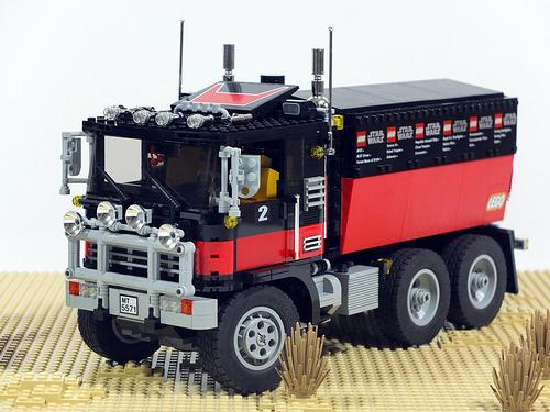 Lego 5571 Black Cat Rally Truck The Lego Car Blog