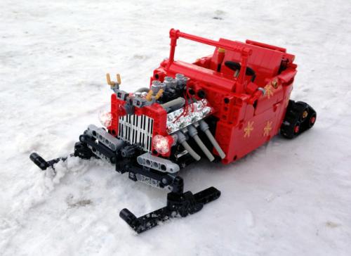 Lego Santa's Hot Rod