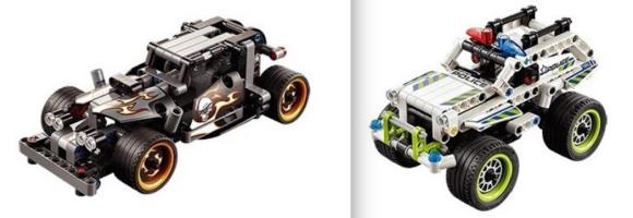 Lego Technic 42046 Getaway Racer Lego Technic 42047 Police Intercepter