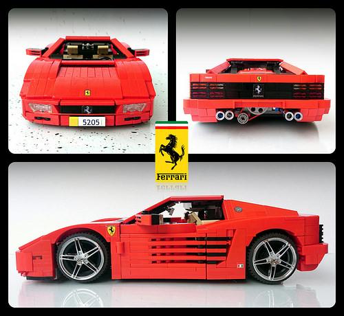 Lego Ferrari Testarossa 512 Firas Abu Jaber