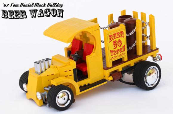 Lego Beer Wagon '67 Tom Daniel Mack Bulldog