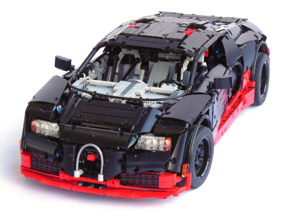 lego technic bugatti veyron the lego car blog. Black Bedroom Furniture Sets. Home Design Ideas