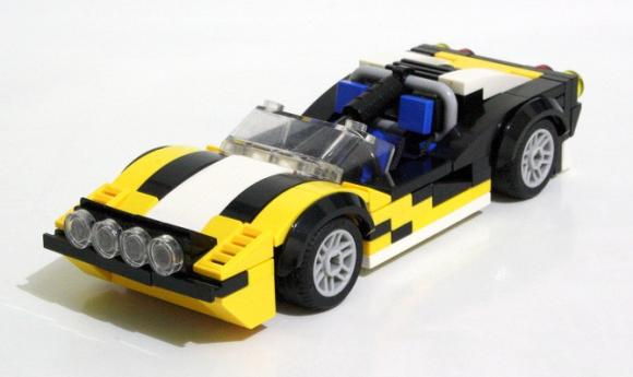 lego ferrari 308 rally car the lego car blog. Black Bedroom Furniture Sets. Home Design Ideas