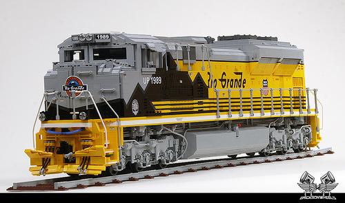 lego union pacific emd sd70 ace locomotive the lego car blog