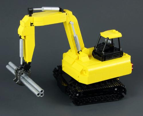 Lego Grab Excavator