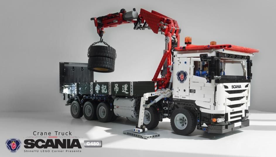 Lego Technic Scania G480 Crane Truck The Lego Car Blog