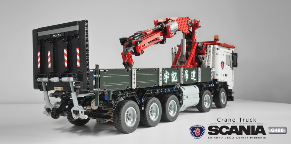 Lego Technic Rc Scania Crane Truck The Lego Car Blog