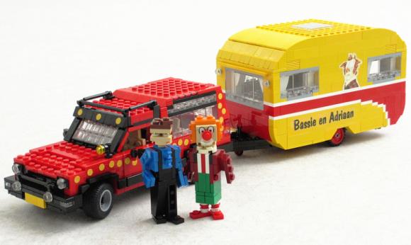 Lego Bassie & Adriaan Caravan