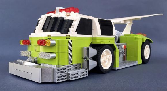 Lego Afterburner Fire Truck Drag Car