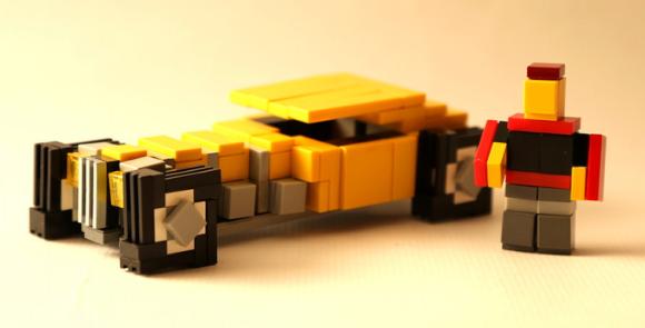 Lego Pixelated Hot Rod