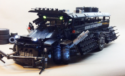 Lego Mad Max Post-Apoc School Bus