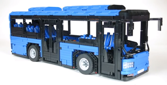 lego technic rc bus the lego car blog. Black Bedroom Furniture Sets. Home Design Ideas