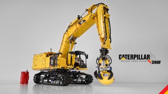 Lego Technic Remote Control Caterpillar 390F