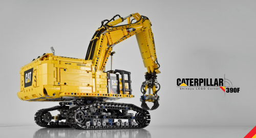 Lego Technic Caterpillar Excavator Power Functions