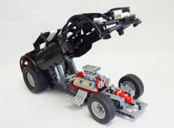 Lego Technic Funny Car Drag Racer Crowkillers