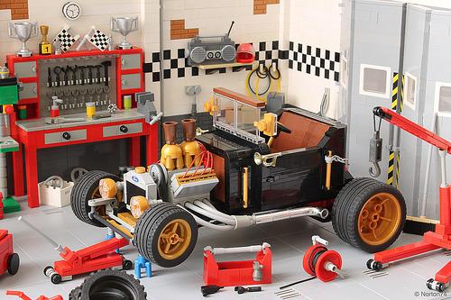 Lego Ford T-Bucket Hot Rod Steampunk