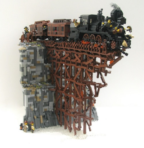 Lego Steam Train Crash