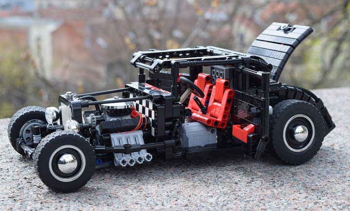 lego technic hot rod rc the lego car blog. Black Bedroom Furniture Sets. Home Design Ideas