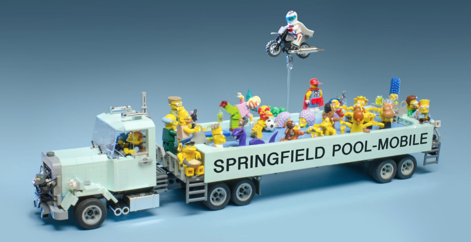 Mobile Pool lego simpsons pool mobile | the lego car blog