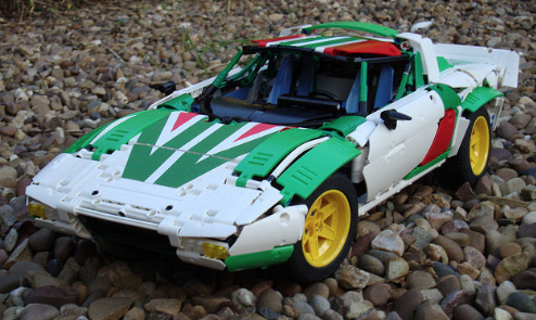 lego technic lancia stratos rally car the lego car blog. Black Bedroom Furniture Sets. Home Design Ideas