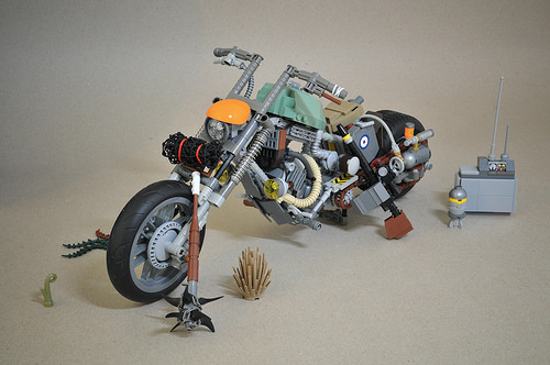 Lego Post-Apoc Motorcycle