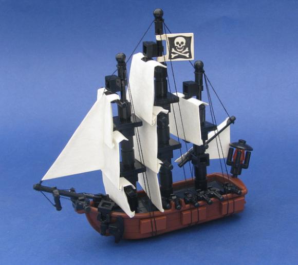 Lego Microscale Pirate Ship