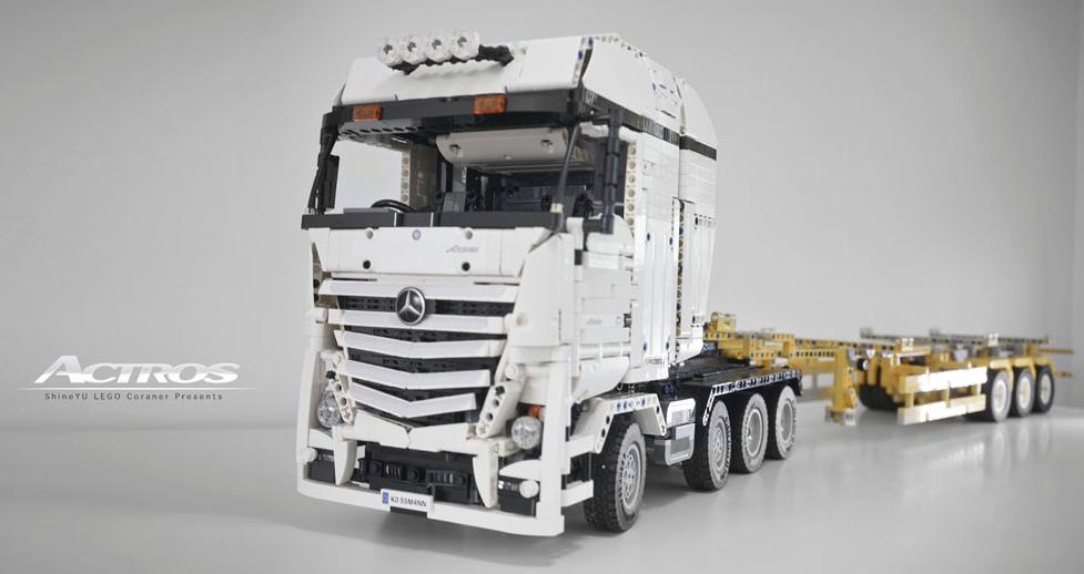lego technic mercedes truck rc the lego car blog. Black Bedroom Furniture Sets. Home Design Ideas