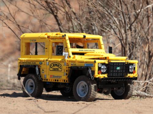 Land Rover Defender Camel Trophy Lego Remote Control