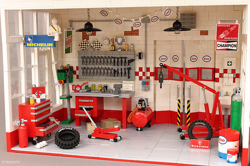 Lego Petrol Station Esso