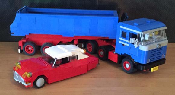Lego Citroen DS Mercedes-Benz Truck