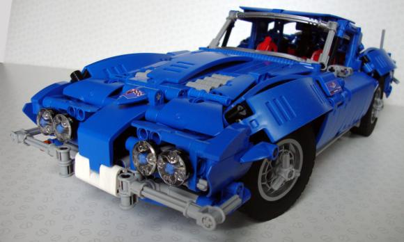 lego technic corvette c2 stingray 1963 the lego car blog. Black Bedroom Furniture Sets. Home Design Ideas