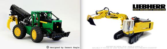 Lego John Deere Liebherr Excavator Remote Control
