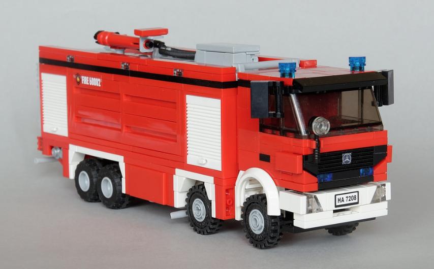 Lego Mercedes Benz Actros Fire Truck The Lego Car Blog