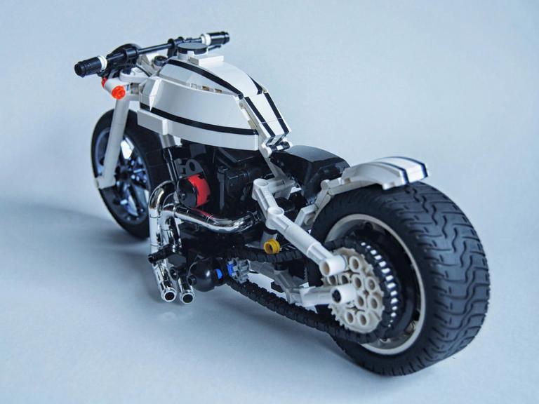 lego harley davidson motorbike the lego car blog. Black Bedroom Furniture Sets. Home Design Ideas