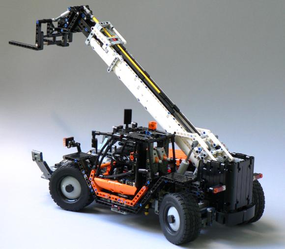 lego technic rc telehandler the lego car blog. Black Bedroom Furniture Sets. Home Design Ideas