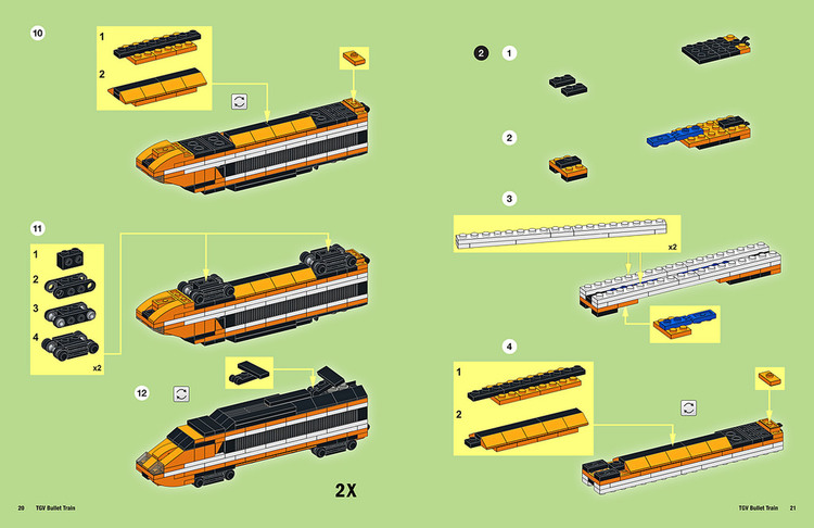 Lego Tgv Train Instructions The Lego Car Blog