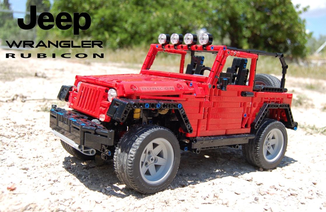 lego technic jeep wrangler rubicon sheepo the lego car blog. Black Bedroom Furniture Sets. Home Design Ideas