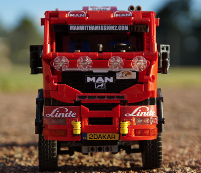 lego technic man tgs dakar truck the lego car blog. Black Bedroom Furniture Sets. Home Design Ideas