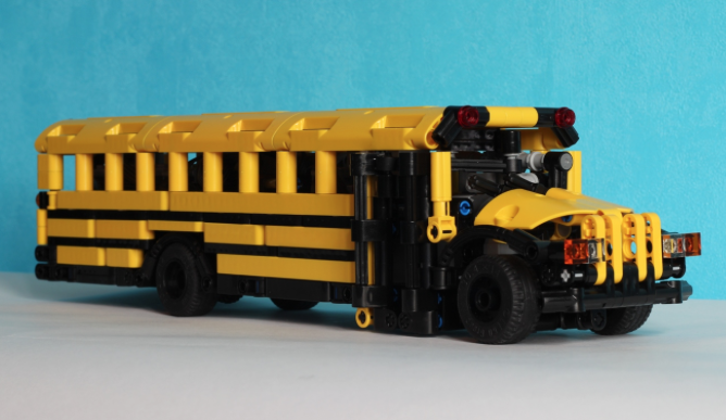 lego technic remote control school bus the lego car blog. Black Bedroom Furniture Sets. Home Design Ideas