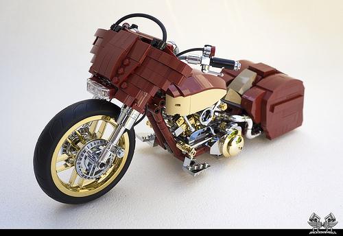 lego harley davidson street glide custom the lego car blog. Black Bedroom Furniture Sets. Home Design Ideas