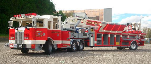 Lego Pierce Arrow San Jose Fire Truck