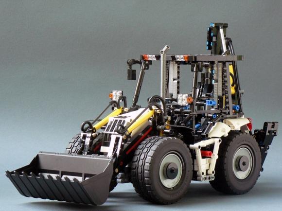Lego Technic Pneumatic Backhoe Loader