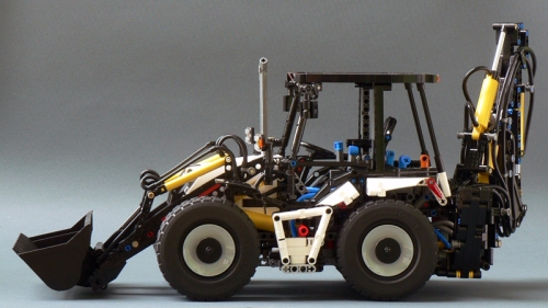 Lego Technic Pneumatic Backhoe Loader
