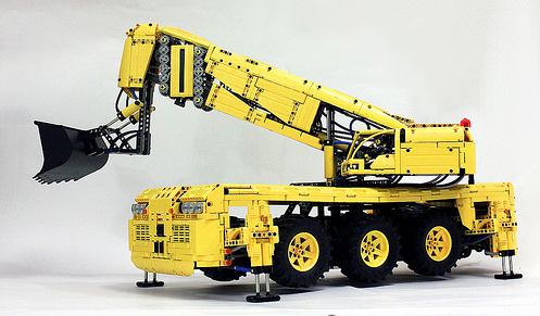Lego Pneumatic Rock Excavator